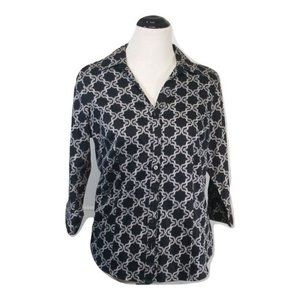 212 Collection black & white blouse shirt top